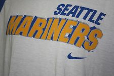 Seattle Mariners Blue and whit T shirt size XL