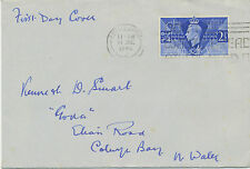 """GB 1946 Victory 2 1/2 D """"EDINBURGH - DON'T WASTE BREAD OTHERS NEED IT"""" FDC"""