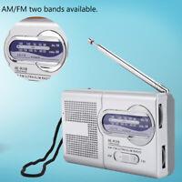 Mini Portable Pocket Digital AM/FM BC-R119 Radio Receiver Telescopic Antenna US
