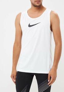 Nike Men's Dry Tank Vest Top White Small