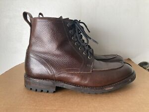 ALLEN EDMONDS RAINIER Leather  BROWN Split-Toe Boots 8.5 D