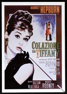 locandina COLAZIONE DA TIFFANY audrey hepburn martin balsam rooney cinema PP1