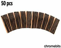 "TUBELESS TYRE REPAIR KIT INSERTS PLUGS STRINGS 8"" x 50 STRIPS"