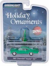 GREENLIGHT 2016 HOLIDAY ORNAMENTS 1967 CHEVROLET IMPALA SS DIECAST CAR 40010-B