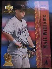 2001 Upper Deck Gold Glove Finite #61 Matt Williams 15/25