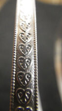 925 STERLING Silver Bezel Strip Wire HEART Pattern 1 FOOT 100% Recycled Bracelet