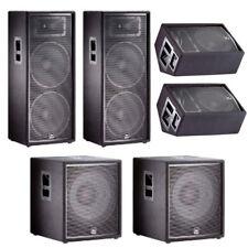 JBL JRX DJ PA Speaker Sub Monitor System Bundle Pack 2x JRX225 JRX218S JRX212M