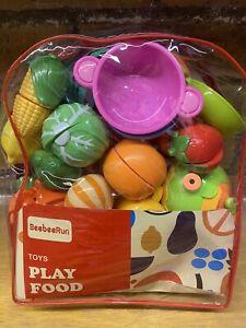 BeebeeRun Wooden Play Food Set