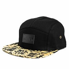 Phoenix Legendary 5-Panel Cap Hat Camp Blumenmuster Gold Black Five Casquette