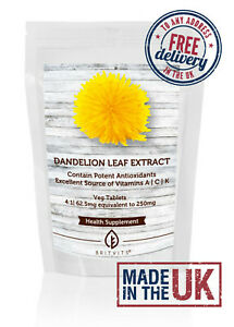 Dandelion Leaf Source of Vitamins A, C, K Extract Tablets BV