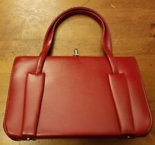 Vintage, Berne', Red, Vinyl, Pocketbook Handbag (1960s)