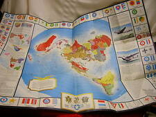 Vintage Global Map for Global War & Global Peace Airplane Alcoa Aluminum