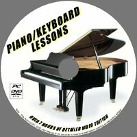 PIANO /KEYBOARD LESSONS BEGINNERS LEARNING PC DVD 7+ HOURS STEP BY STEP TRAINING