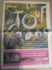 VELO : TOUR DE FRANCE : LE TOUR 2012 A LIEGE - 26/06/2012 -