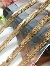 2 Meters Latest Indian Handmade Zardosi Sequin Stone Sari Border lace Trim