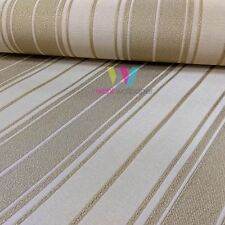 Holden Clara Stripe Pattern Wallpaper Textured Embossed Metallic Vinyl 33901