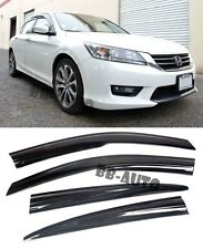 For 13-Up Honda Accord Mugen Style Window Rain Guard Visors 4Door 3M Tape on