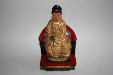 Antique/Old Chinese Wooden Carved Painted Woman Lady Figurine Statue