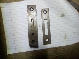 Railway, train, Carriage door lock and keep, (no Key), steel, antique