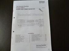 Service Manual Harman Kardon  AVR 11