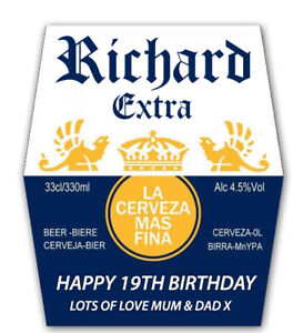 4 X PERSONALISED CORONA BEER BOTTLE LABELS - PARTY / BIRTHDAY / WEDDING OCASION