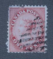 *Kengo* Canada stamp #14 Queen Victoria used CV$40 @168
