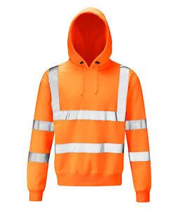 Hi Vis Hi Visibility Rail Spec Hoody - Hi Viz Orange - HVHSPR