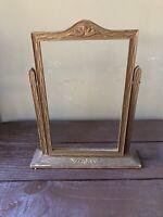 Antique Vintage Wood Ornate Art Deco Pedestal Swing Tilt Picture Photo Frame