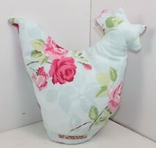 Handmade Chicken doorstop cotton fabric 1kg fill shabby chic cottage country