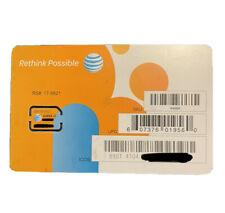 At&T Nano Sim Card • supports 4G Lte & 5G • Prepaid or Contract