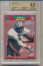 1989 Pro Set Football Jerry Ball (Rookie Card) (#116) (Subs 1-9/3-9.5's) BGS9.5