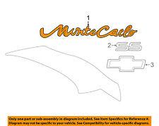 Chevrolet GM OEM 00-05 Monte Carlo Trunk Lid-Emblem Badge Nameplate 10402605
