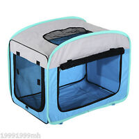 Pink Blue Beige Light Weight Travel Soft Foldable Dog Cage