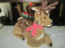 "VINTAGE 23"" SANTA'S BEST ANIMATED MOTION CHRISTMAS REINDEER HOLIDAY DECOR"