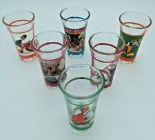 New ListingNorman Rockwell Saturday Evening Post Sport Shot Glasses Complete Set of 6