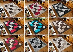 New Beautiful Thick High Quality & Modern Squares Design Soft Rugs