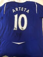 Rare Mikel Arteta Signed Everton 2008/09 Home Shirt Size L BNWT