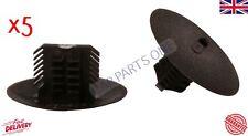 5x Fit Renault Clio Megane Scenic Mudguard Retainer Clips Black Plastic