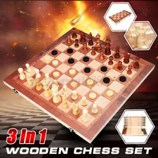 Wooden Chess Set Board Game for Adults & Kids Travel Home Chess Board Game Gift