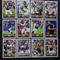 2012 Topps Minnesota Vikings Team Set of 12 Football Cards