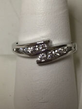R.S. Covenant Sterling Cubic Zirconia Crossed Band Ring, Style # 4127, Size 10