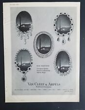 1962 Van Cleef & Arpels diamond necklace jewelry world famous Jewelers ad