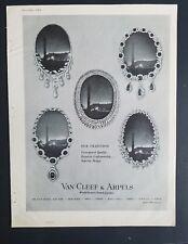 1962 Van Cleef & Arpels diamond necklace jewelry world famous Jewelers ad