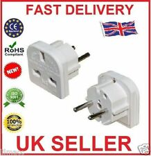 5 x PIFCO 3 Pin UK to 2 Pin EU Europe Holiday Travel Adapters Spain France