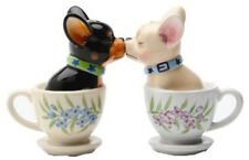Tea Cup Kissing Chihuahuas Pups Magnetic Salt & Pepper Shaker Set