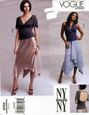 VOGUE NY Collection Misses' Petite Top and Skirt  Pattern 2762 8-12 UNCUT