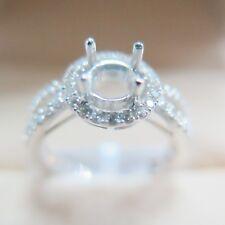 SOLID Platinum 900 0.369CT Diamond 4 Prongs Engagement Ring Setting CUSTOM-BUILD