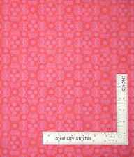 Butterfly Fabric Butterflies & Flowers Peach Pink Northcott #6176 ~ By The YARD