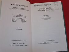 1981 ~ QUALITY CONTROL IN ANALYTICAL CHEMISTRY ~ ROCKETDYNE PROPERTY / VOL. 60