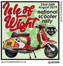 2019 ISLE OF WIGHT IOW SCOOTER RALLY PATCH BSRA MODS SKINHEADS not PADDY SMITH